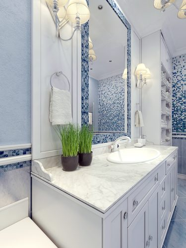 Cultured Marble Countertops - White Bathroom Sink
