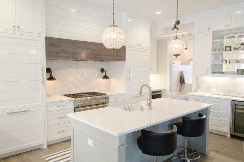 White Granite Countertops - White Kitchen