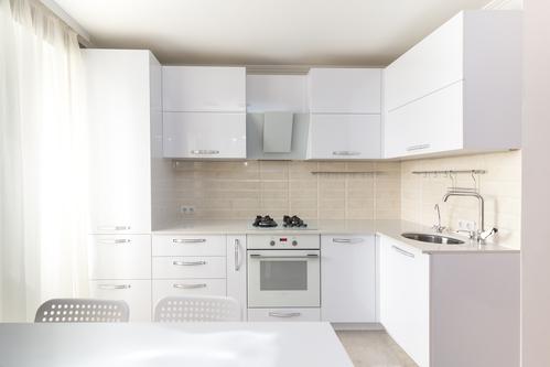 White Quartz Countertops - White Kitchen
